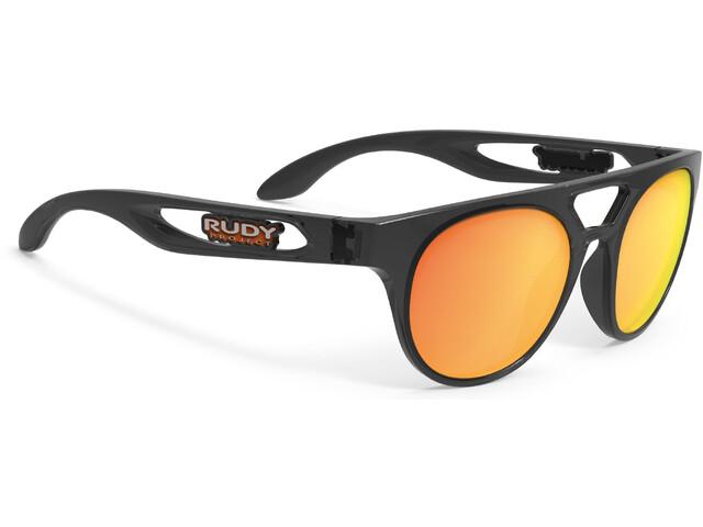 Rudy Project Fiftyone Okulary rowerowe, crystal graphite/multilaser orange